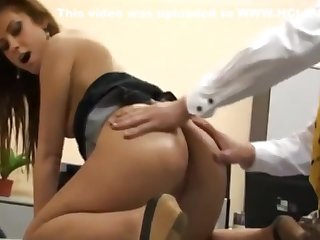 Off colour German Secretary Gets Anal Fucked by Her New Boss