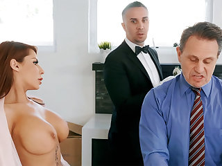 Horny boots is ready to anal fuck housewife