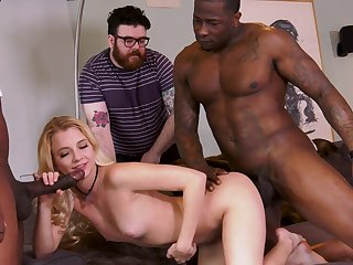 Precedent-setting cuckold with Riley Star plus two black hunks