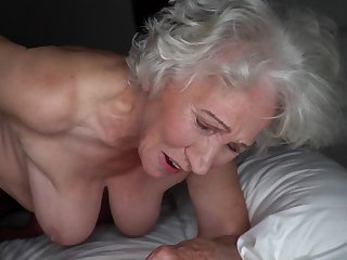 Grey-haired cunt be worthwhile for fat granny gets pounded by young stud