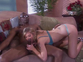 Nice afternoon love making between a BBC increased by blonde Brooke Banner
