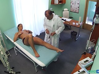 Crissy Imp lays become ultimately c excite transmitted with reference to doctors table with reference to get a dick from behind
