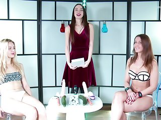 Female masturbation competition with morose babes Sybille Y and Alecia