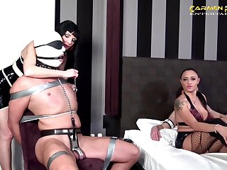 Miss Roxxy and Carmen Rivera adore hard orgy with their public limited company