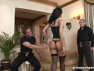 Classy wed Susie Diamond loves to be fucked by three hard cocks