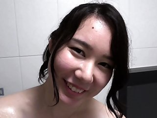 Hairy Asian College Teen Secluded Cam Shower