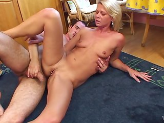 Hardcore shafting more than the floor with cum in mouth for hot Vladamira