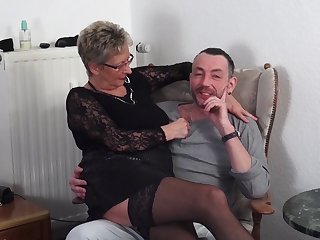Mature German couple loves having sex with a younger couple
