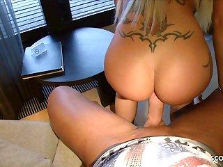 German Girlfriend Cora Anal Creampie Big Learn of POV Fuck
