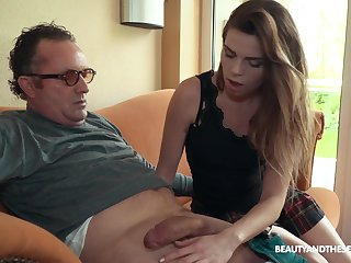 Sexy boss Sarah Smith fucks older men unsurpassed and she's so passionate