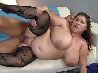 BBW wife Kc Parker in all directions the titanic inept breasts getting fucked