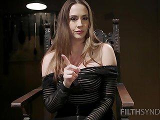 Brunette pornstar Chanel Preston spreads her fingertips increased by teases