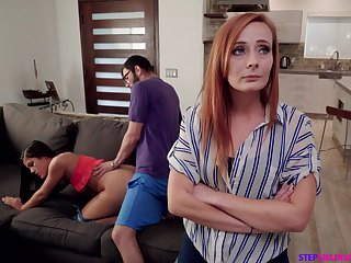 Nympho Kendra Spade seduces stepbrother forth front of stepmom