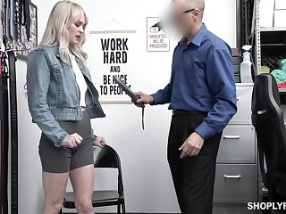 Pretty blond student Lilly Bell gets punished be advantageous to shoplifting