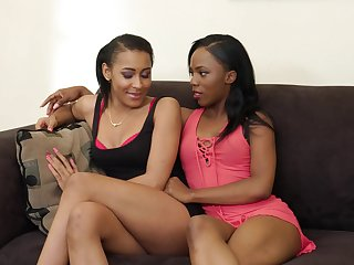 Black lesbian couple is testing new sex toy