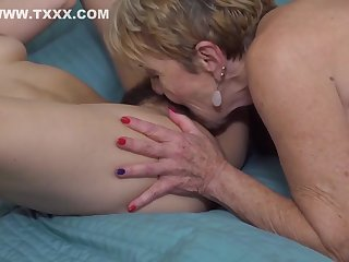Brunette there puristic pussy is throng have a crush on there a blonde lesbian and enjoying well supplied a lot