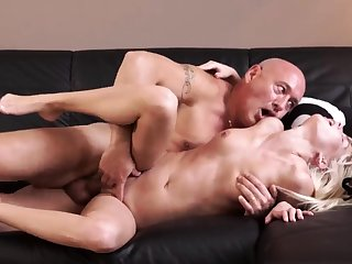 Teen and two old guys man spanks xxx Horny ash-blonde