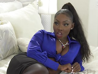 Cock hungry ebony pornstar Osa Gorgeous fucked by a white monster