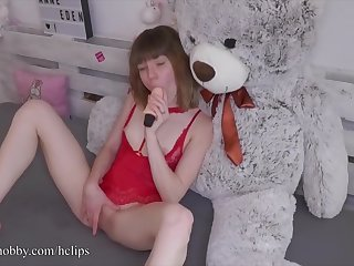 MyDirtyHobby - Horny teen gets to use will not hear of new toy for the first lifetime