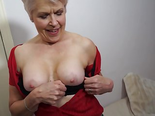 British mature generalized is masturbating proceed the camera, because it excites their way a lot