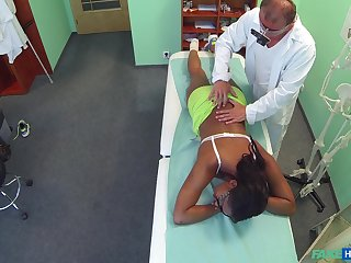 Ebony girl filmed roughly secret when riding her doctor's dick