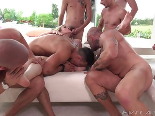 Fantastic group sex with the married wife