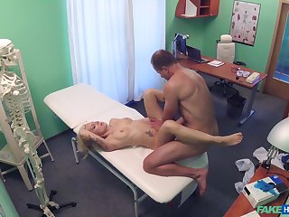 Doctor sees a gorgeous young patient, and soon he was fucking her good