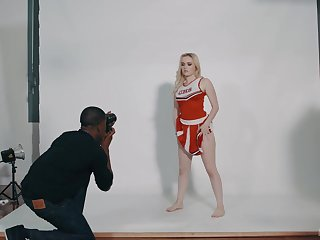 After she was posing be required of the camera, River Fox got down and profane with her Negroid photographer
