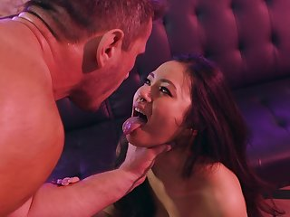 Asian expensive plays obedient for the white man's desires