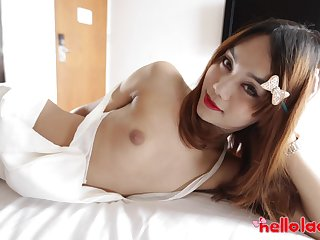 Asian shemale Ning is made for some wholly hard doggy anal banging