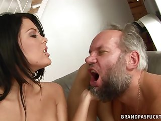 Madison Parker fucks dirty old geezer