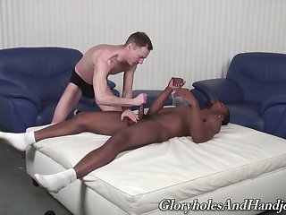 Jet gay loves treats himself with a dose be proper of white dong