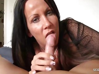 Katie Pears With respect to German Mommy Teased Blowjob And Handjob For Stepson, Pov