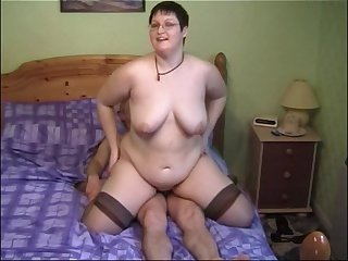 Horny MILF Bernie likes to ride a cock while her boobs bounce