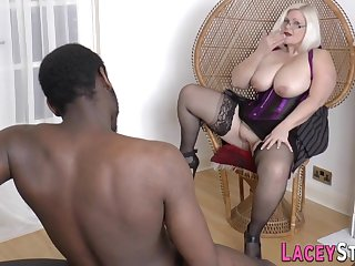 Granny Gobbles Black Flannel And Gets Banged - Lingerie