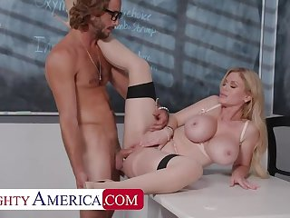 Naughty America: Casca Akashova helps take management of her student's boner by taking his cock on PornHD