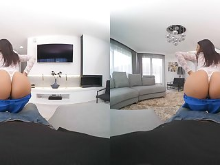 POV video almost naughty girlfriend Sheila Ortega sucking a dick