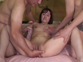 Japanese lewd minx gangbang incredible sex stiffener